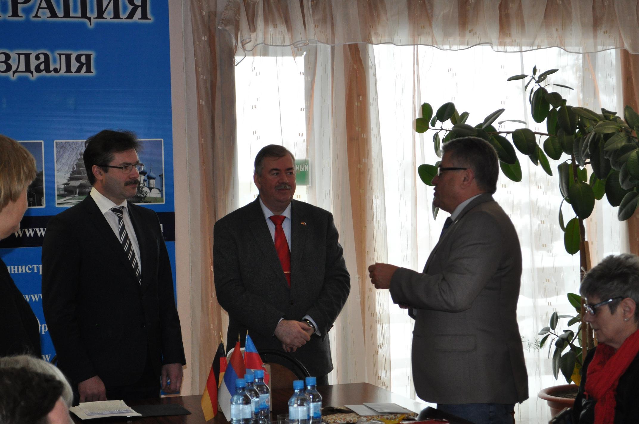 Приезд немецкой делегации в Суздаль