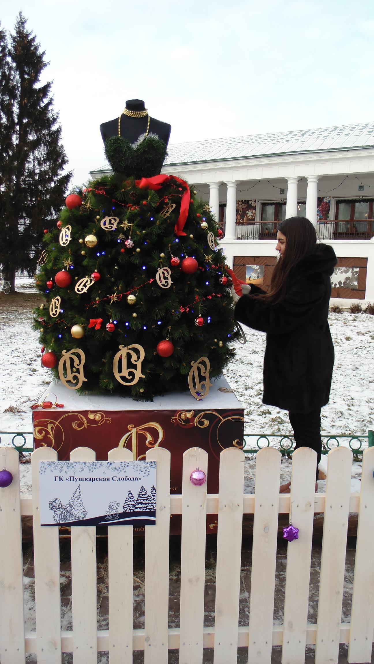 Парад елок в Суздале.